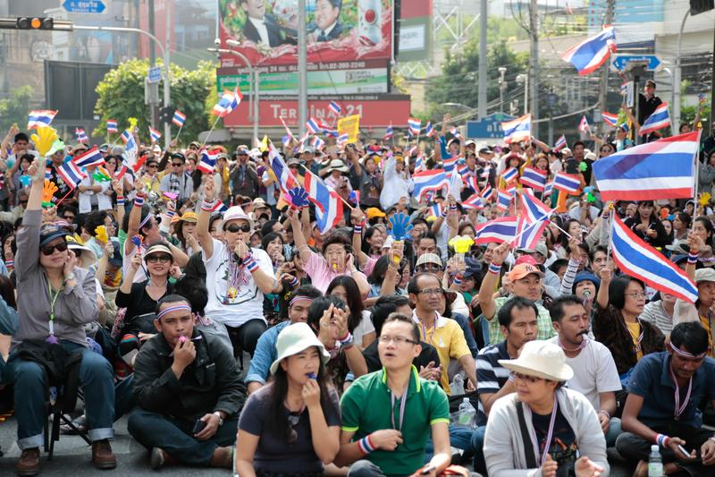 Protestors imagen de archivo