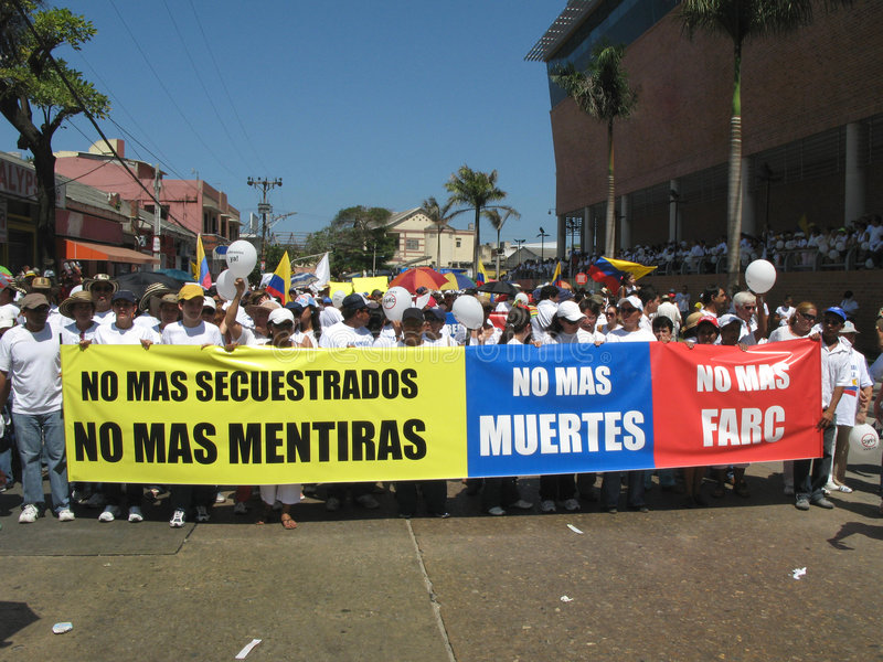 Protestos de Barranquilla imagem de stock royalty free