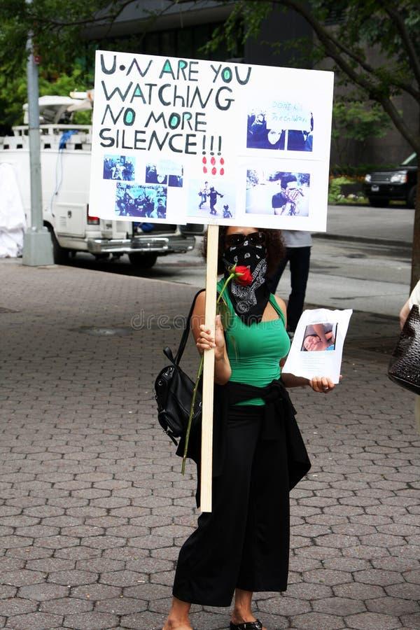 Protestos de Irã em New York fotos de stock