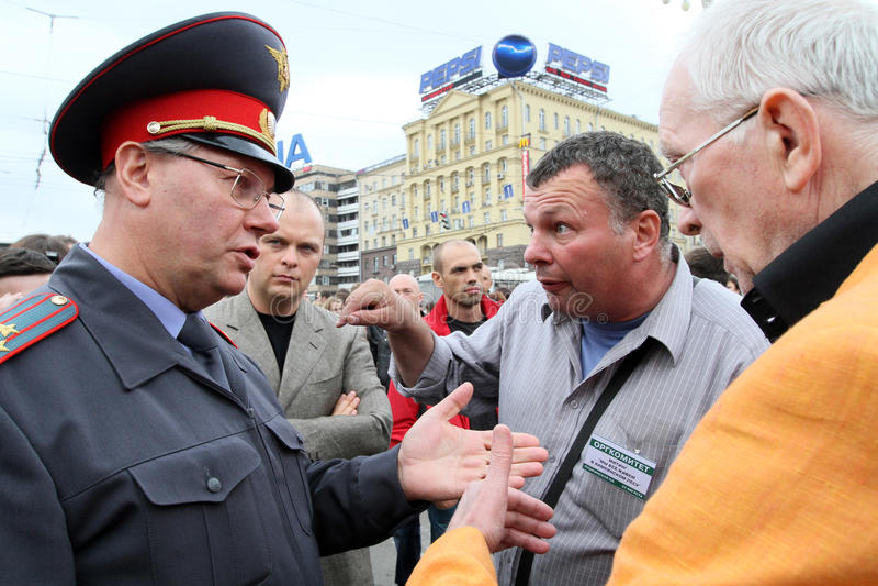 Protestos de Moscovo fotos de stock royalty free