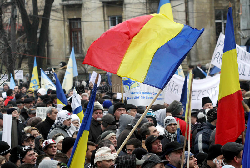 Protestos de Romania fotografia de stock royalty free
