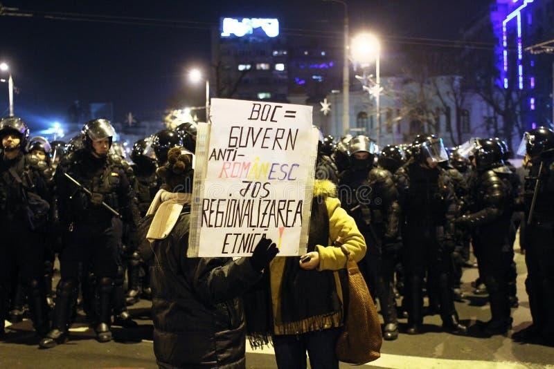 Protestos de Romania fotos de stock