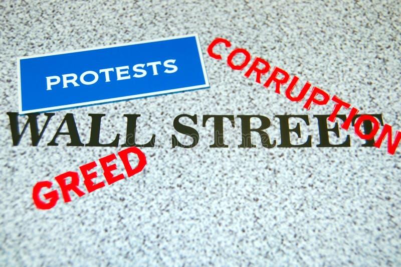 Protestos de Wall Street imagem de stock