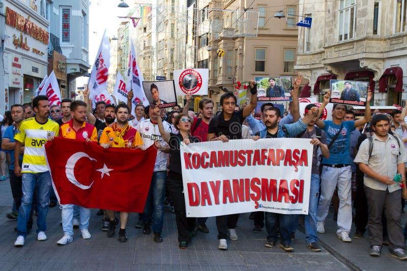 Protestos em Turquia fotografia de stock