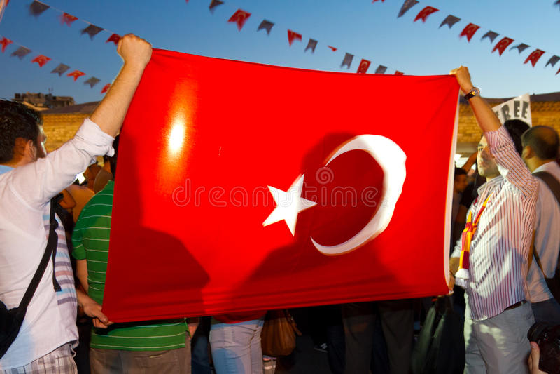 Protestos em Turquia imagens de stock royalty free