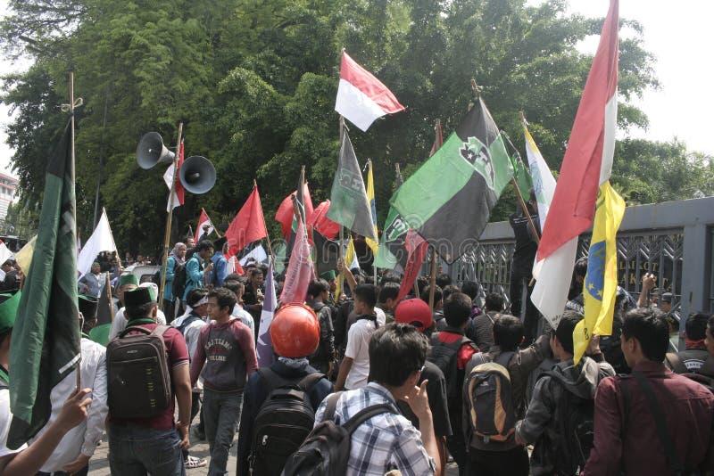 Protestos maciços do estudante fotos de stock royalty free