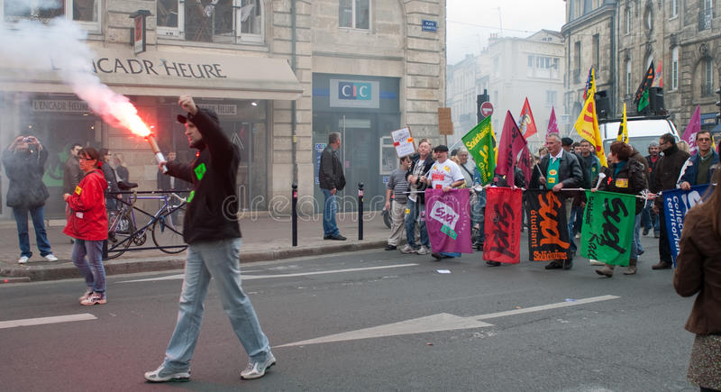 Protests in France 2010 stock image