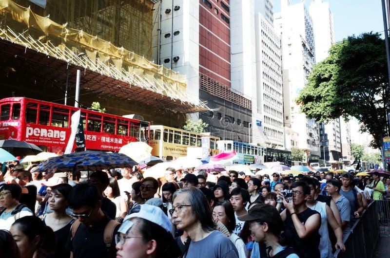Protests in Hong Kong 2017 stock photography