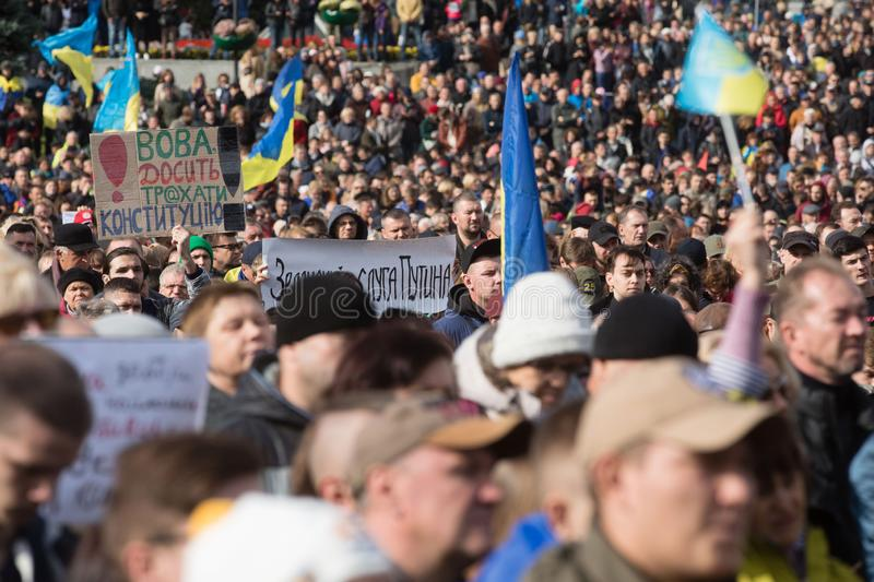 Protests on Independence Square in Kyiv, Ukraine royalty free stock photos