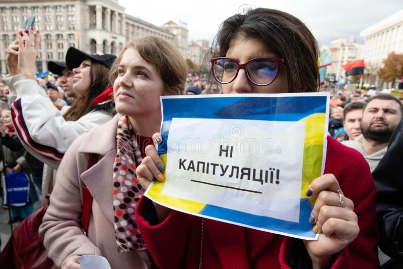 Protests on Independence Square in Kyiv, Ukraine stock photos