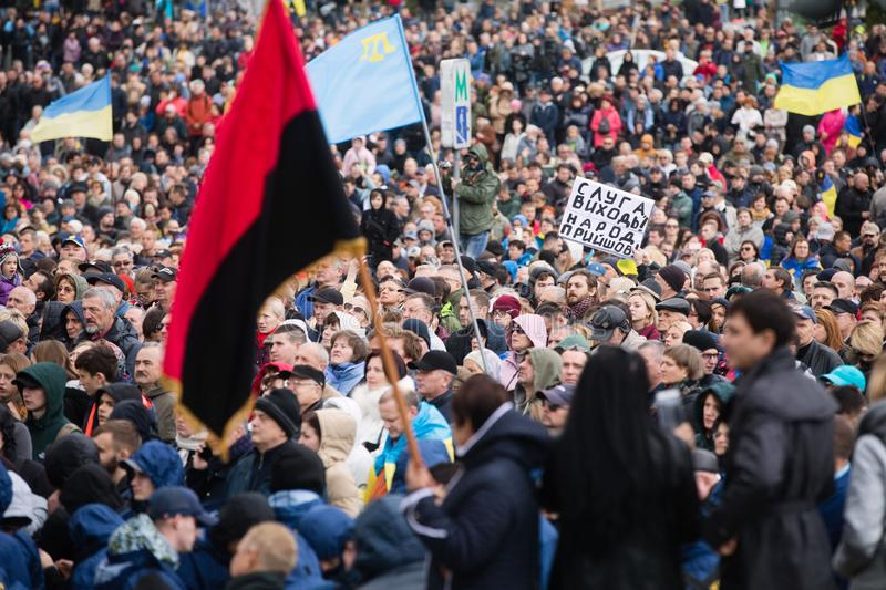 Protests on Independence Square in Kyiv, Ukraine royalty free stock photography