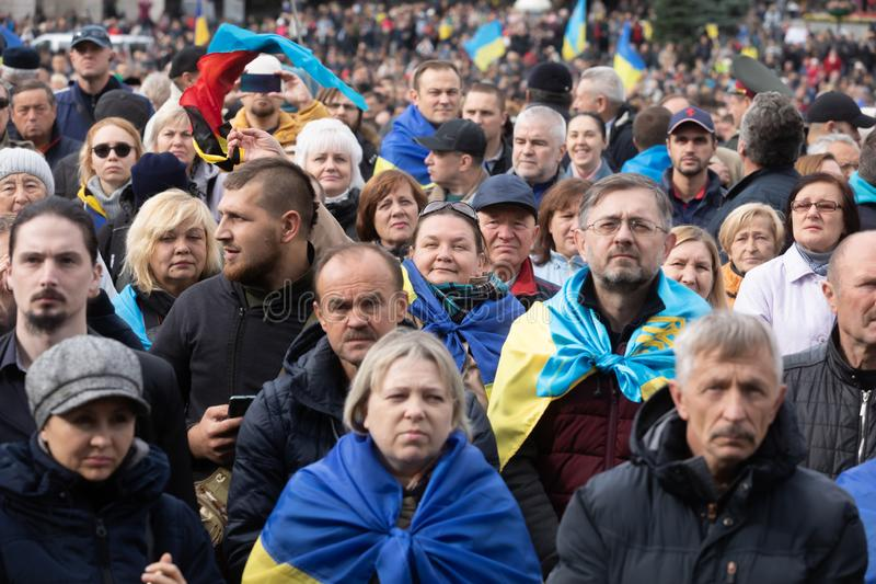 Protests on Independence Square in Kyiv, Ukraine royalty free stock images