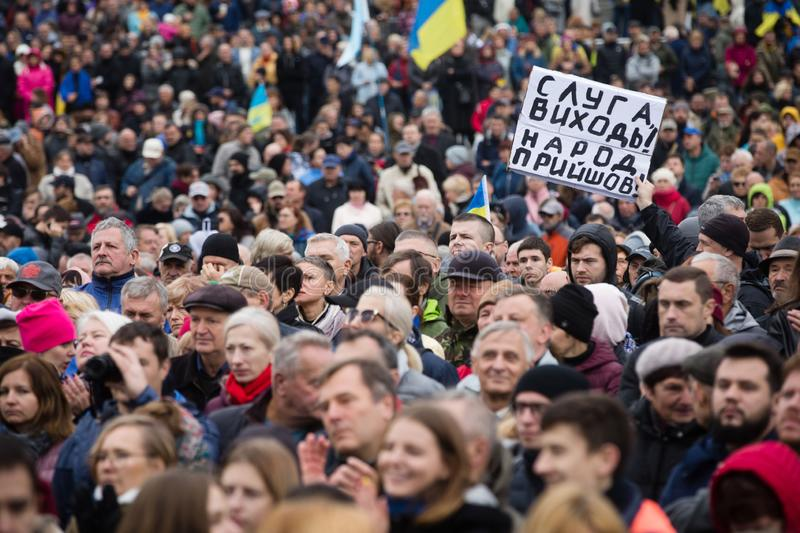 Protests on Independence Square in Kyiv, Ukraine stock photography
