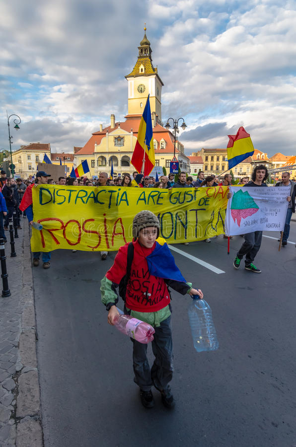Download Protests for Rosia Montana editorial stock photo. Image of march - 33678378