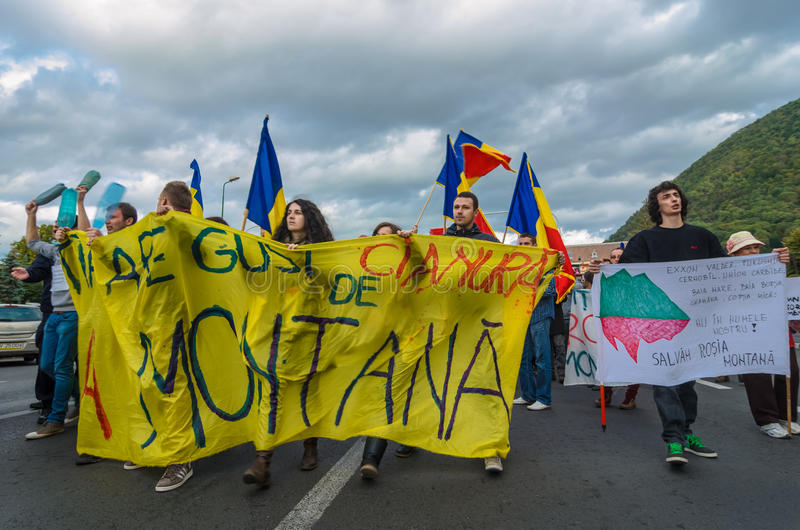 Download Protests for Rosia Montana editorial stock image. Image of government - 33678679