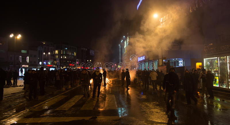Download Protests in Turkey editorial stock photo. Image of night - 39504778