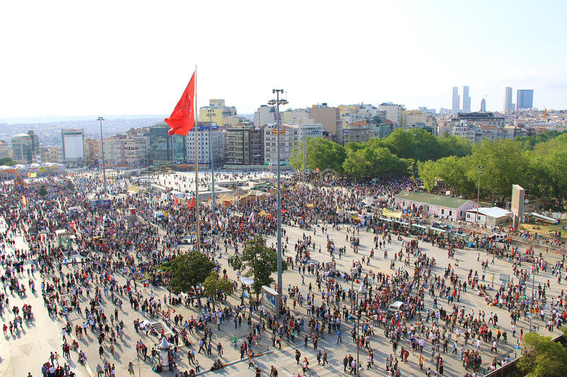 Protests in Turkey Taksim Square royalty free stock images