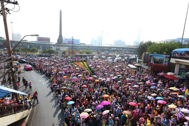 Protestujący trzymają antyrządowego wiec obraz royalty free