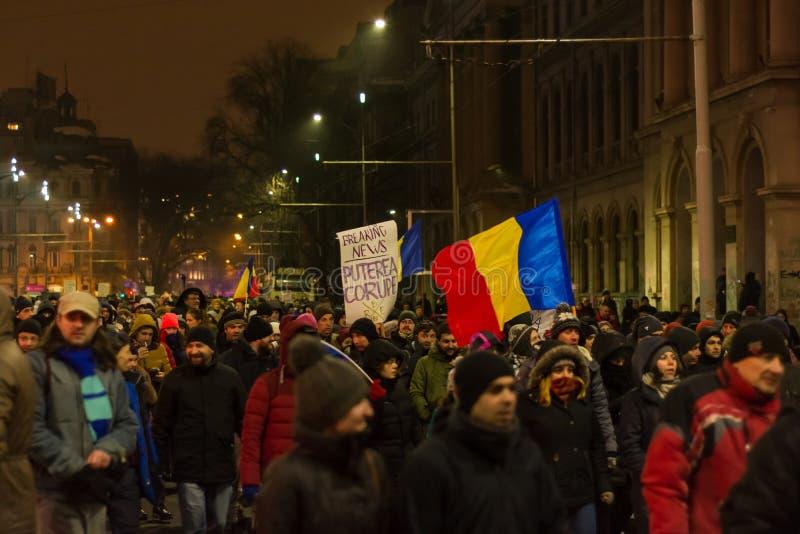 Protesty w Bucharest obrazy stock