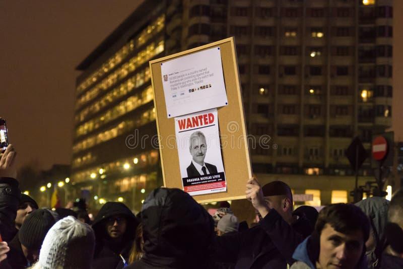 Protesty w Bucharest zdjęcia royalty free