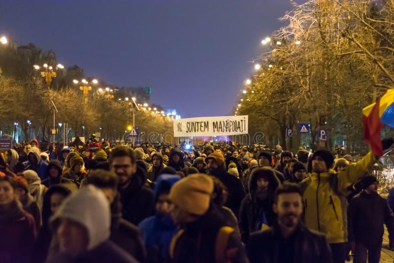 Protesty w Bucharest fotografia royalty free