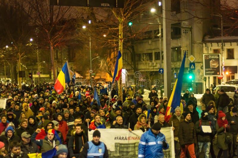Protesty w Bucharest obraz stock