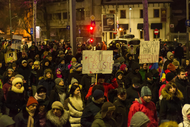 Protesty w Bucharest obraz royalty free