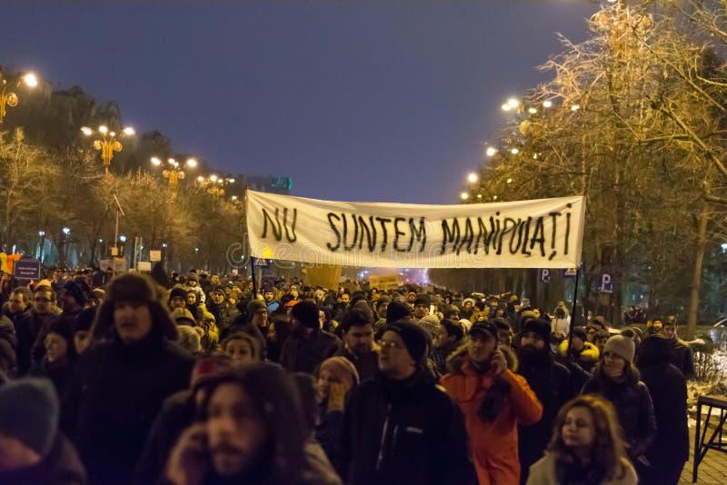 Protesty w Bucharest zdjęcie stock