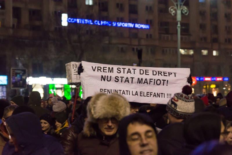 Protesty w Bucharest obrazy royalty free