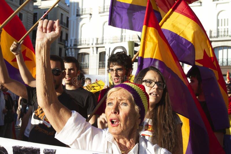 Protesty w Madrid fotografia royalty free