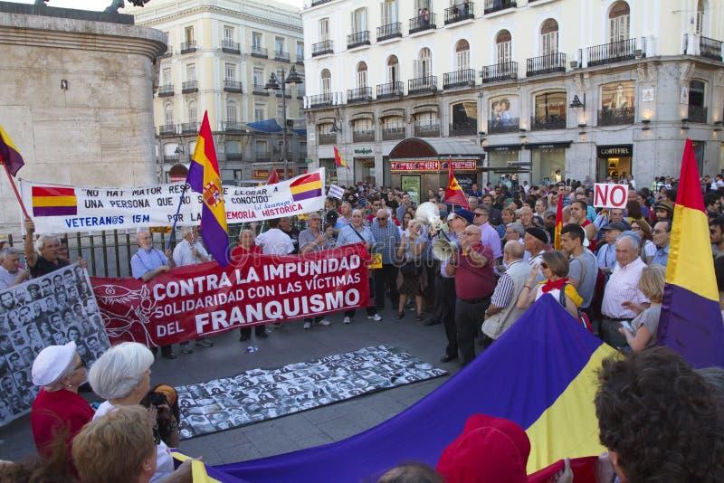 Protesty w Madrid zdjęcia stock