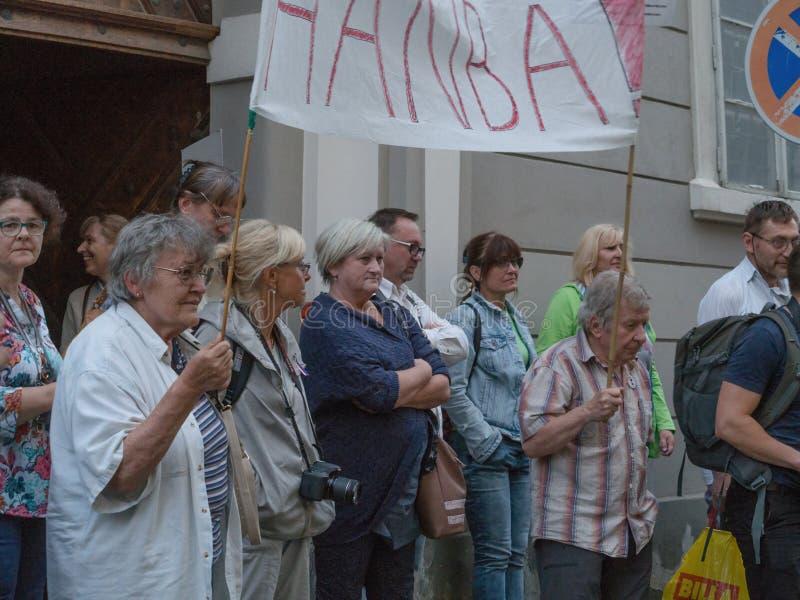 Protesty w Praga zdjęcia royalty free