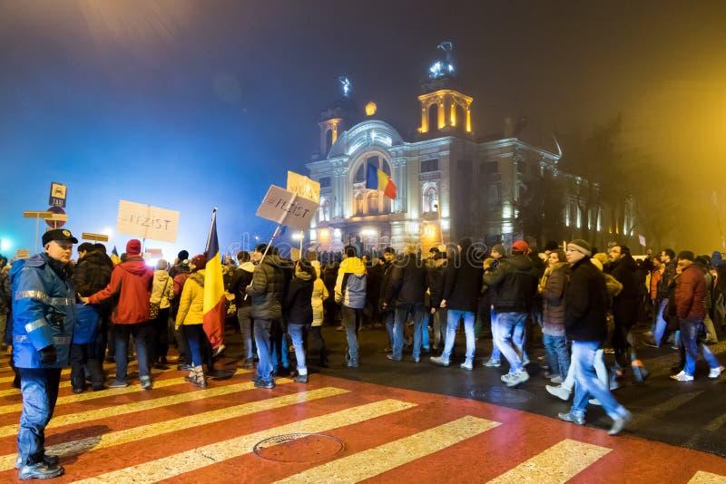Protesty w Rumunia zdjęcia stock