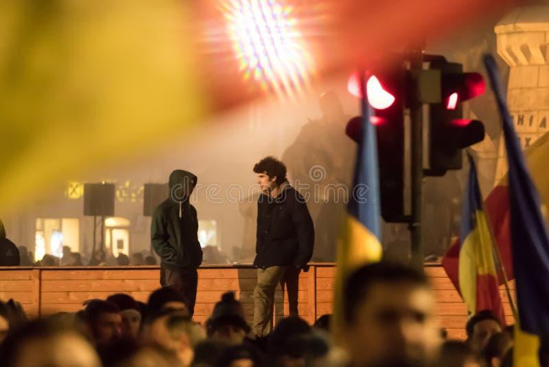 Protesty w Rumunia zdjęcia royalty free