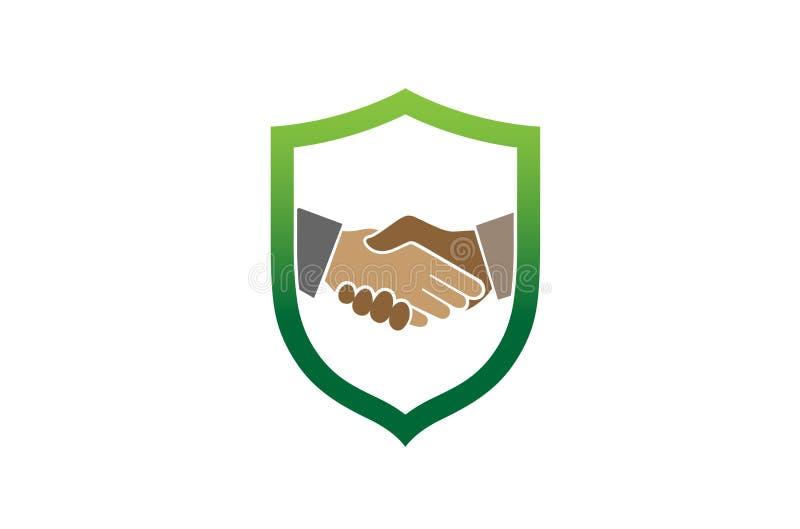 Protetor abstrato criativo Logo Design Symbol Vetora Illustration do aperto de mão ilustração stock