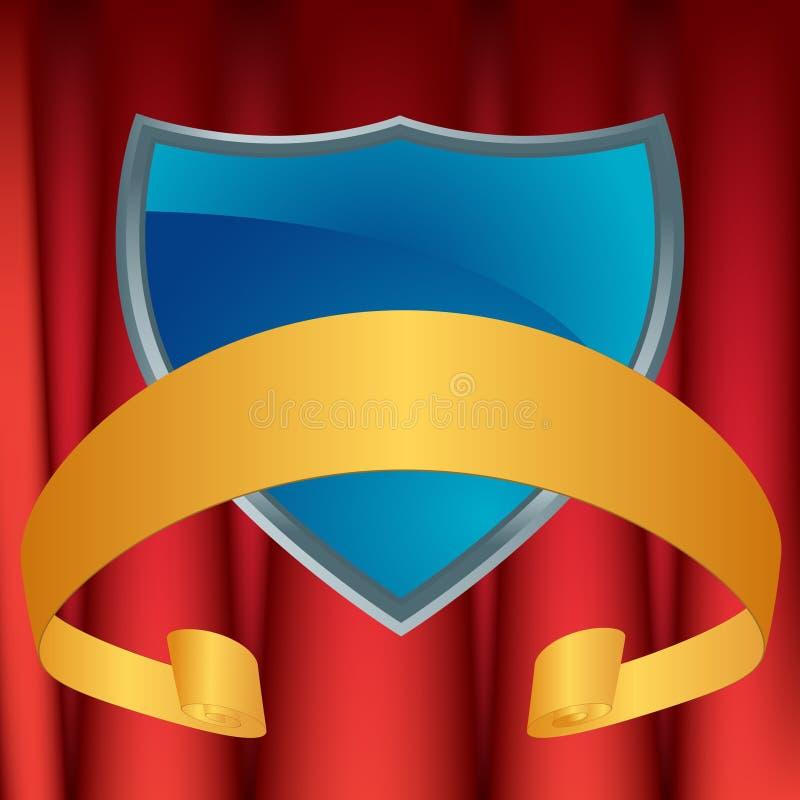 Protetor azul com Drapery ilustração royalty free