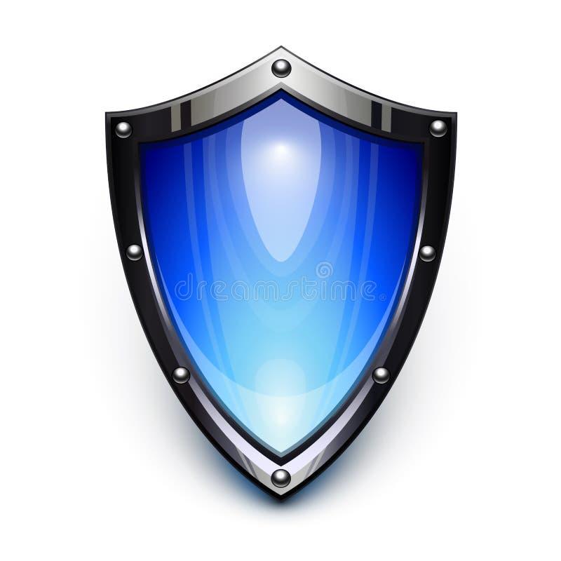 Protetor azul da segurança ilustração do vetor