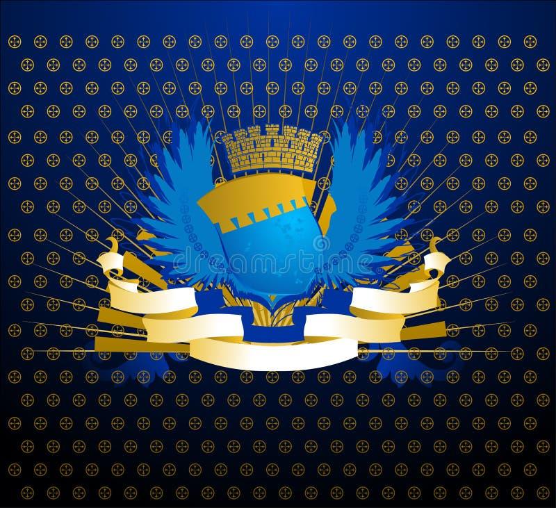 Protetor azul do ouro ilustração stock