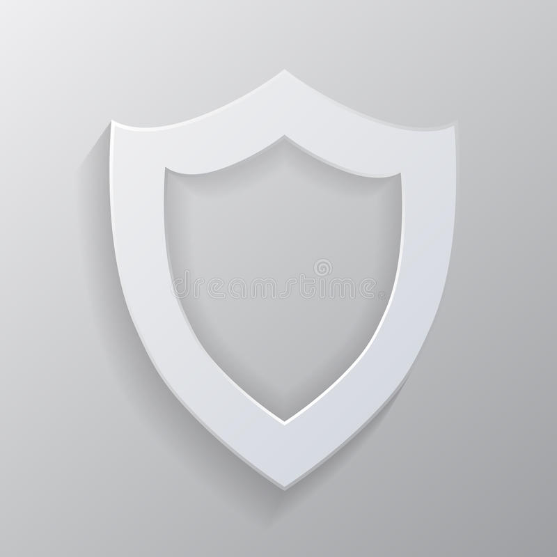 Protetor branco vazio. ilustração stock