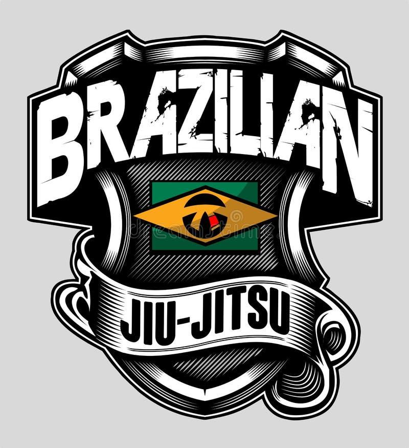 PROTETOR BRASILEIRO DO JIU-JITSU ilustração do vetor