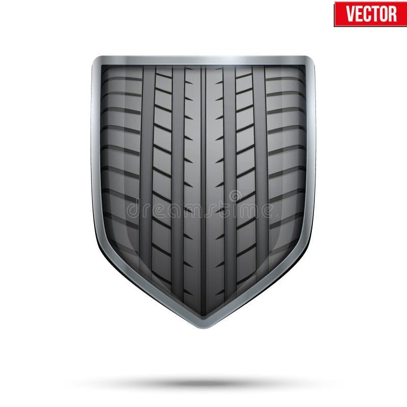Protetor brilhante no pneu de competência para dentro Vetor ilustração royalty free