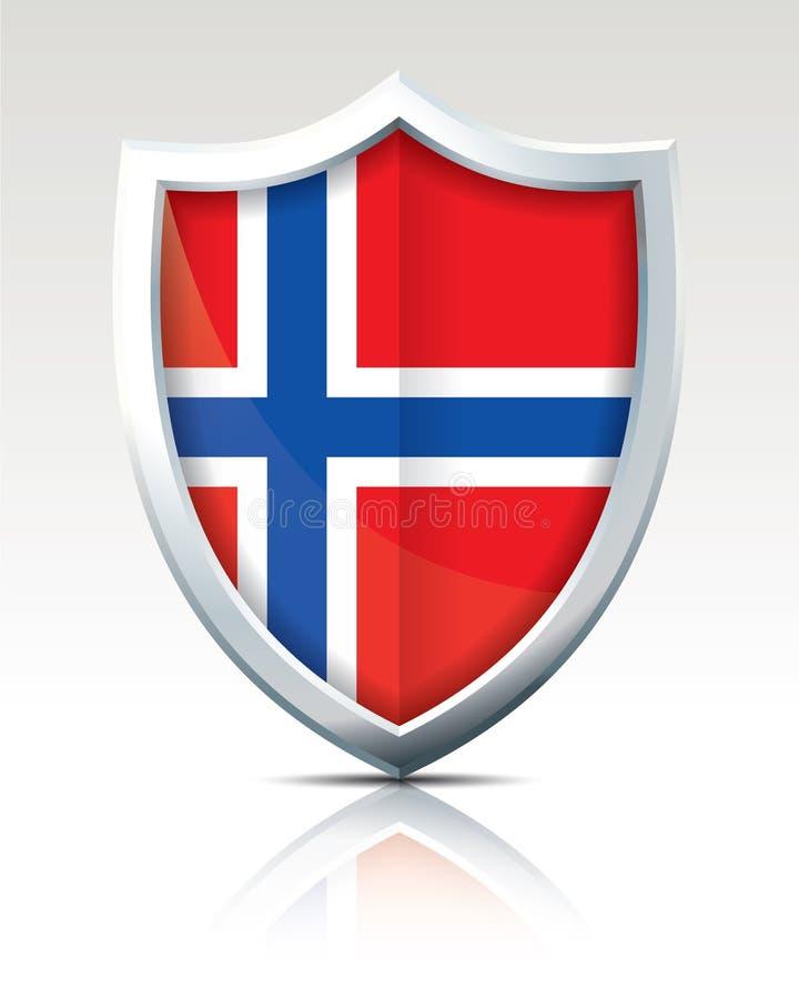 Protetor com a bandeira de Jan Mayen ilustração do vetor