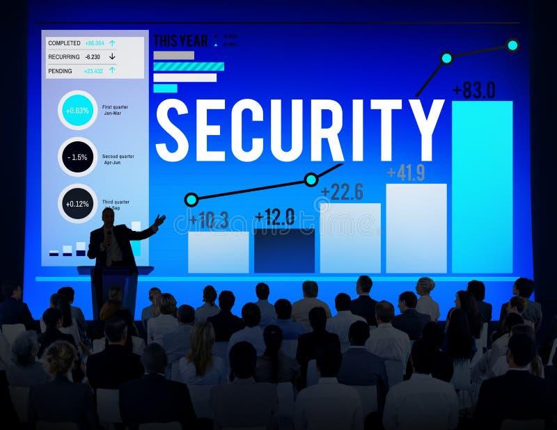 Protetor Concept do guarda-fogo da privacidade do secretismo da proteção de segurança ilustração do vetor