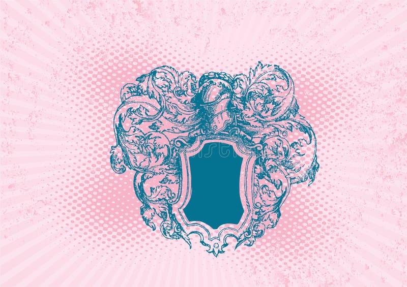 Protetor cor-de-rosa do grunge. Vetor. ilustração stock