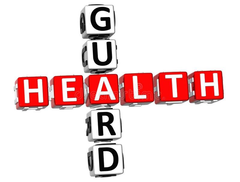 Protetor Crossword da saúde ilustração royalty free
