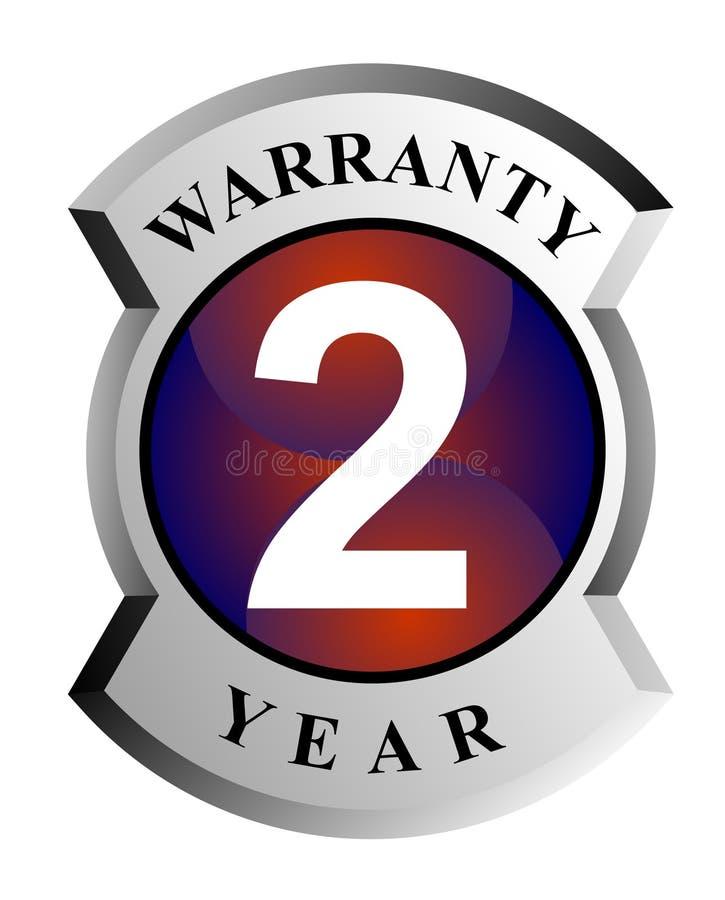 protetor da garantia de 2 anos ilustração royalty free