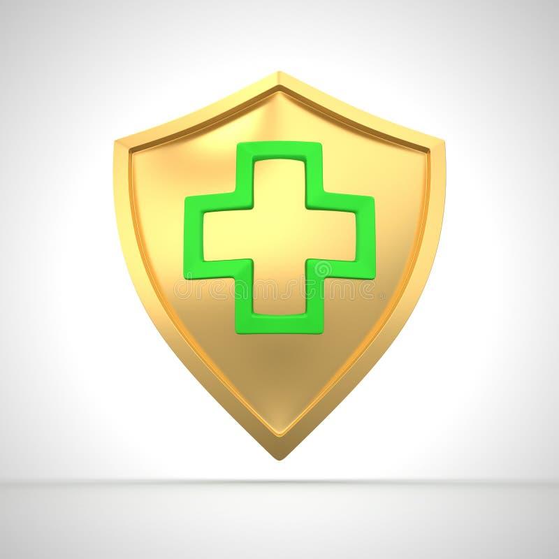 Protetor da medicina ilustração royalty free