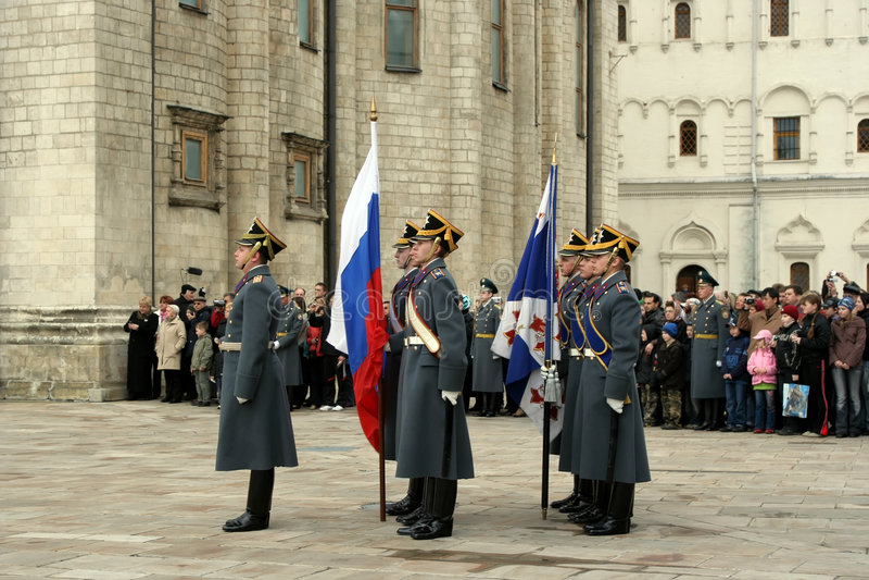 Protetor da Moscovo Kremlin imagens de stock royalty free