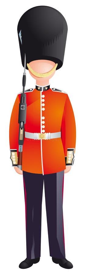 Protetor da rainha, soldados britânicos do exército ilustração do vetor