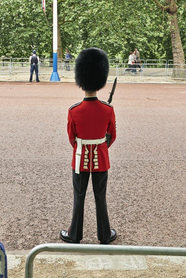 Protetor da tropa perto do Buckingham Palace fotografia de stock royalty free